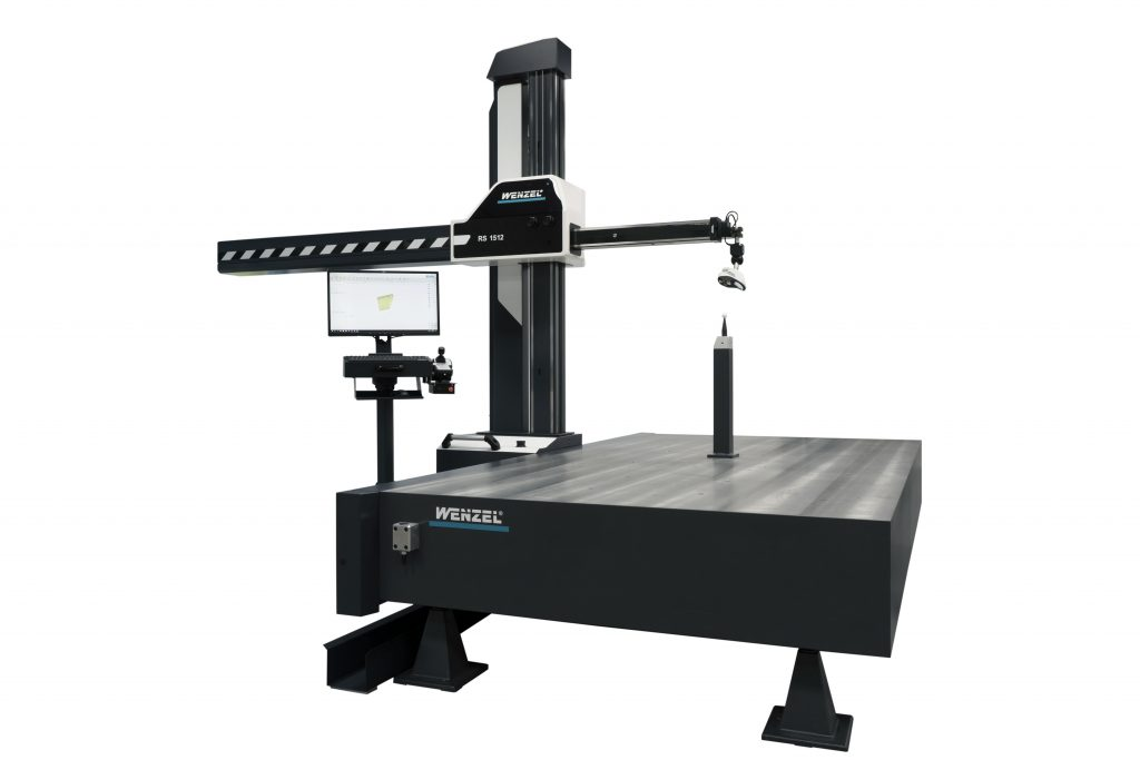 WENZEL RS-1512 CMM with matte black base and pillar holding horizontal arm.