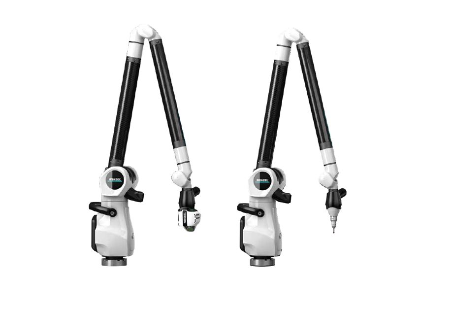 Two offered types of Mobile 7-Axis Arm with different head attachments.